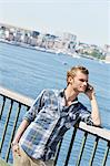 Portrait of a young blond man, Sweden. Stock Photo - Premium Royalty-Free, Artist: Ikon Images, Code: 6102-06470567