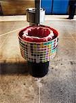 A wastebasket decorated with mosaic, Sweden. Stock Photo - Premium Royalty-Free, Artist: Robert Harding Images, Code: 6102-06470594