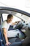 Young man in a car, Sweden. Stock Photo - Premium Royalty-Free, Artist: Aflo Sport, Code: 6102-06470660