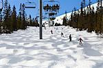 People skiing under ski lift Stock Photo - Premium Royalty-Free, Artist: Robert Harding Images, Code: 6102-06470954