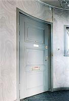 Close entrance door at home Stock Photo - Premium Royalty-Freenull, Code: 6102-06471028
