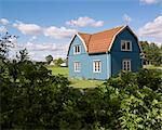 Blue wooden house Stock Photo - Premium Royalty-Free, Artist: Robert Harding Images, Code: 6102-06471089