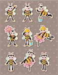 cartoon bee boy stickers  Stock Photo - Royalty-Free, Artist: notkoo2008                    , Code: 400-06471981