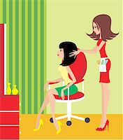 Woman in a beauty salon. Stock Photo - Royalty-Freenull, Code: 400-06473038