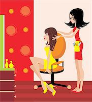 Woman in a beauty salon. Stock Photo - Royalty-Freenull, Code: 400-06473039