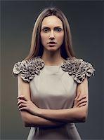 fashion beautiful glamour girl Stock Photo - Royalty-Freenull, Code: 400-06473545