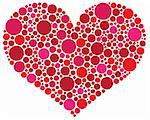 Valentines Day Love Heart Shape Silhouette in Pink and Red Polka Dots Illustration Stock Photo - Royalty-Free, Artist: jpldesigns                    , Code: 400-06476966