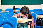 school girl study alone in the classroom Stock Photo - Royalty-Free, Artist: tomwang                       , Code: 400-06478476