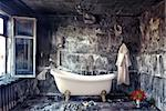 vintage bathtub in grunge interior (photo compilation) Stock Photo - Royalty-Free, Artist: vicnt                         , Code: 400-06478488