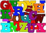 Many large colored letters as an illustration Stock Photo - Royalty-Free, Artist: petr73                        , Code: 400-06478665
