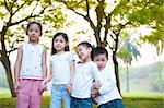 Asian children having fun at outdoor Stock Photo - Royalty-Free, Artist: szefei                        , Code: 400-06479245