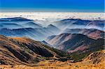 mountains and clouds in Parang Mountains, Romania Stock Photo - Royalty-Free, Artist: porojnicu                     , Code: 400-06479366