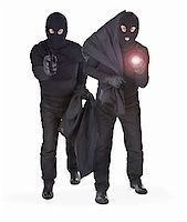 pair of two robbers on white background Stock Photo - Royalty-Freenull, Code: 400-06480357
