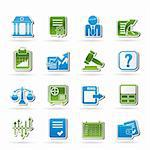 Stock exchange and finance icons - vector icon set Stock Photo - Royalty-Free, Artist: stoyanh                       , Code: 400-06482398