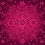 Dark purple seamless pattern with vintage  tracery(vector) Stock Photo - Royalty-Free, Artist: OlgaDrozd                     , Code: 400-06482593