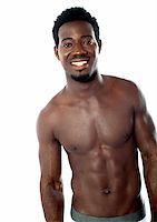 Shirtless young man posing in underwear. Studio shot Stock Photo - Royalty-Freenull, Code: 400-06482615