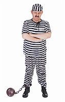 angry prisoner on white background Stock Photo - Royalty-Freenull, Code: 400-06484837