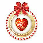 Heart with bow for Valentine s day Stock Photo - Royalty-Free, Artist: Merlinul                      , Code: 400-06485193