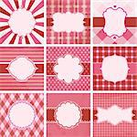 Vector set of valentine's day vintage backgrounds. Stock Photo - Royalty-Free, Artist: MiloArt                       , Code: 400-06485212