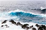 High Waves are Crashing on Lava Rocks, Porto Moniz, Madeira, Portugal Stock Photo - Premium Royalty-Free, Artist: F. Lukasseck, Code: 600-06486117