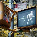 Close-up of Pedestrian Walk Signal, New York City, New York, USA Stock Photo - Premium Royalty-Free, Artist: Andrew Kolb, Code: 600-06486290