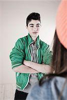 Boy and Girl Arguing in Studio Stock Photo - Premium Royalty-Freenull, Code: 600-06486438