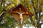 Crucifix Underneath Field Maple Trees in Autumn, Upper Palatinate, Bavaria, Germany Stock Photo - Premium Rights-Managed, Artist: David & Micha Sheldon, Code: 700-06486514