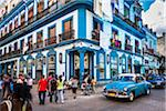 Blue Building, Classic Car, and Busy Street Scene, Havana, Cuba Stock Photo - Premium Rights-Managed, Artist: R. Ian Lloyd, Code: 700-06486575