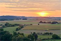 Overview of Farm Fields at Sunset, Schanzberg, Upper Palatinate, Bavaria, Germany Stock Photo - Premium Rights-Managednull, Code: 700-06486595