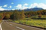 Road and mountainscape in Shari, Hokkaido Stock Photo - Premium Royalty-Free, Artist: Robert Harding Images, Code: 622-06486933