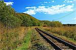 Railway in the countryside in Kushiro, Hokkaido Stock Photo - Premium Royalty-Free, Artist: foodanddrinkphotos, Code: 622-06486939