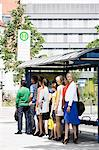 People waiting at bus stop Stock Photo - Premium Royalty-Free, Artist: Robert Harding Images, Code: 649-06488769