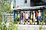 People waiting at bus stop Stock Photo - Premium Royalty-Free, Artist: R. Ian Lloyd, Code: 649-06488770
