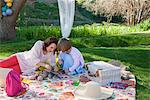 Mother and daughter having picnic Stock Photo - Premium Royalty-Free, Artist: CulturaRM, Code: 649-06489021
