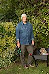 Older man working in garden Stock Photo - Premium Royalty-Free, Artist: Robert Harding Images, Code: 649-06489103