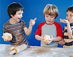 Boys playing with dough Stock Photo - Premium Royalty-Free, Artist: Cultura RM, Code: 649-06489117