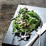 Salad on wooden board Stock Photo - Premium Royalty-Free, Artist: Cultura RM, Code: 649-06489321