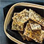 Bowl of whole grain crackers Stock Photo - Premium Royalty-Free, Artist: R. Ian Lloyd, Code: 649-06489337