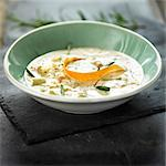 Bowl of soup with citrus peel Stock Photo - Premium Royalty-Free, Artist: foodanddrinkphotos, Code: 649-06489341