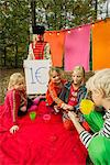 Children selling self-made drinks Stock Photo - Premium Royalty-Free, Artist: Blend Images, Code: 649-06489432
