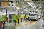 Blurred view of car factory Stock Photo - Premium Royalty-Free, Artist: Blend Images, Code: 649-06489471