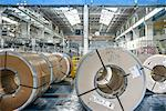 Rolls of steel in car factory Stock Photo - Premium Royalty-Free, Artist: Water Rights, Code: 649-06489499