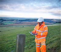 Ecologist examining rural fields Stock Photo - Premium Royalty-Freenull, Code: 649-06489570