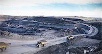 Trucks at surface coal mine site Stock Photo - Premium Royalty-Freenull, Code: 649-06489573
