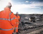Ecologists listening to coal mine Stock Photo - Premium Royalty-Free, Artist: Robert Harding Images, Code: 649-06489577