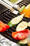 Close up of vegetables cooking on grill Stock Photo - Premium Royalty-Free, Artist: Cultura RM, Code: 649-06489673