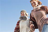 Smiling women running outdoors Stock Photo - Premium Royalty-Freenull, Code: 649-06489714
