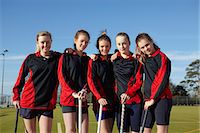 sports and hockey - Lacrosse team smiling together Stock Photo - Premium Royalty-Freenull, Code: 649-06490102