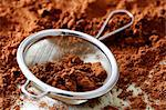 Cocoa and sieve  - making truffles step shot Stock Photo - Premium Rights-Managed, Artist: foodanddrinkphotos, Code: 824-06490160