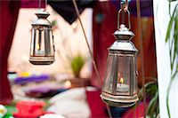 Tea lights and Tent at a Moroccan party Stock Photo - Premium Rights-Managednull, Code: 824-06490332